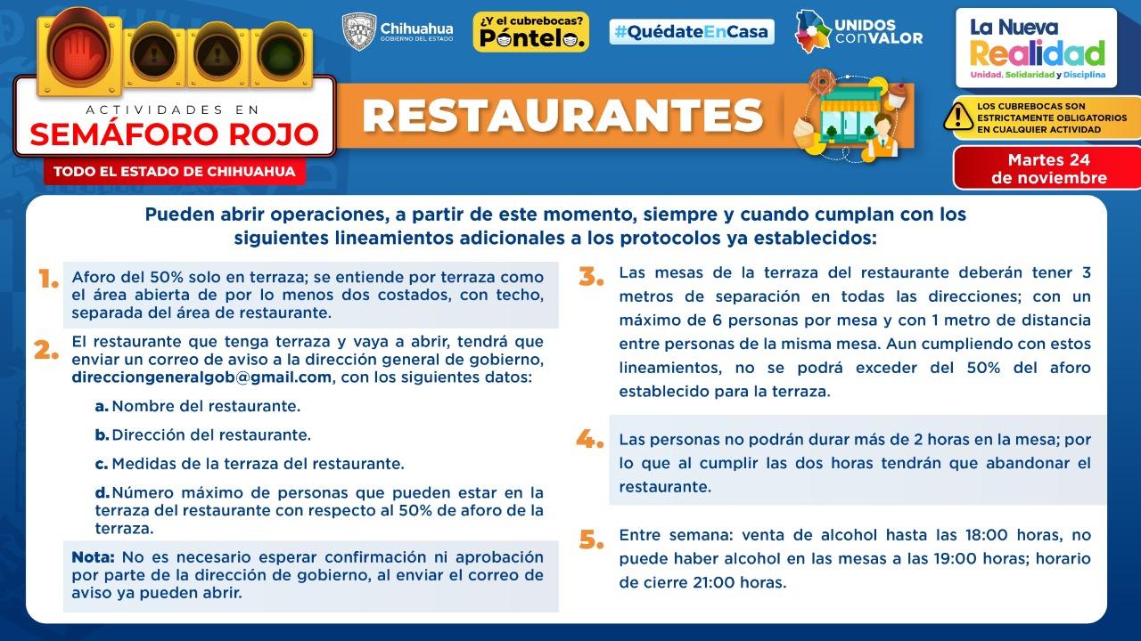 Presenta Gobernador nuevas modalidades para reapertura de restaurantes y comercios