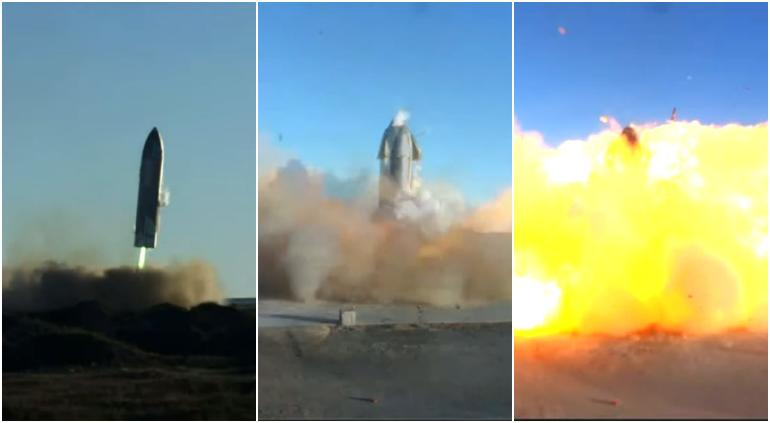 Explotó prototipo de Starship de SpaceX al aterrizar
