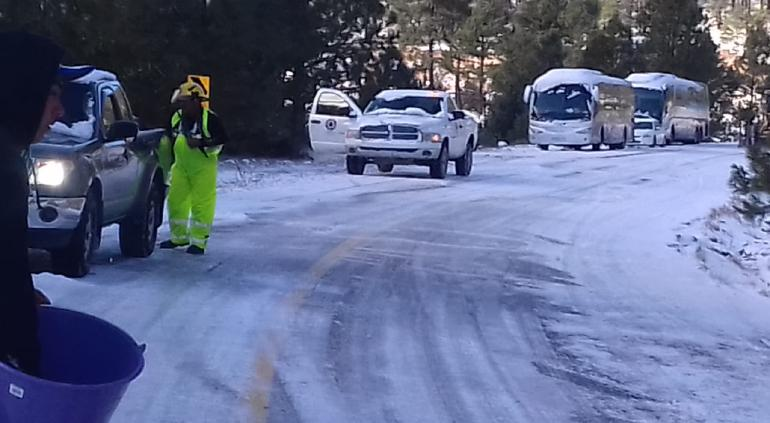 Emite Protección Civil advertencia por nieve y heladas en el estado