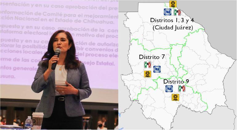 Anuncia PAN: van junto al PRI y PRD para 5 diputaciones federales