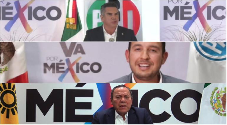 """¡Histórico: PRI, PAN y PRD juntos! Anuncian coalición """"Va por México"""""""