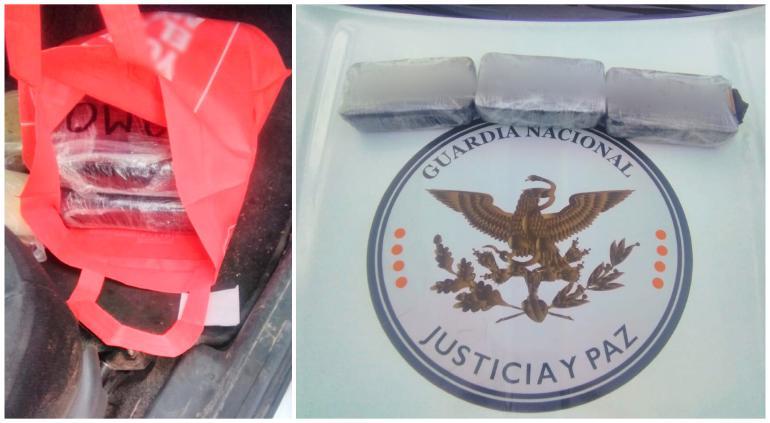 Arrestó GN a sujeto con 3 paquetes de 'cristal' en carretera a Juárez