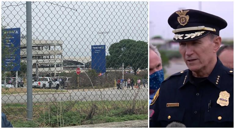 """""""Salvó vidas"""", abate policía a tirador en Aeropuerto de San Antonio"""