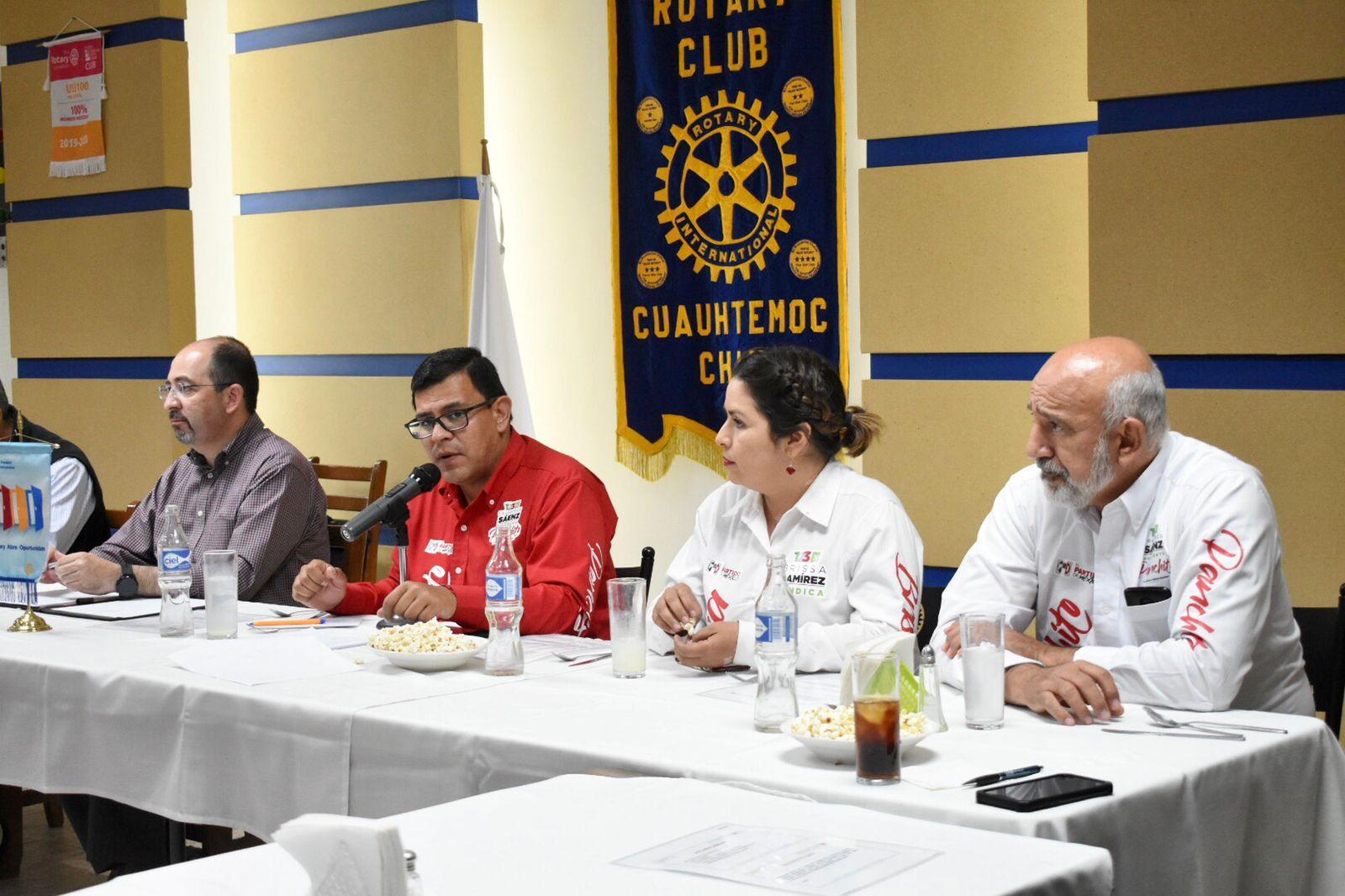 Panchito Sáenz ante Club Rotario: Optimizar el presupuesto con reducción de costo operativo