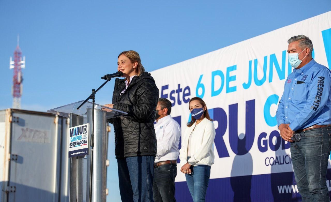 Soñemos juntos y construyamos un futuro mejor; realiza Maru Campos exitoso automitin en Rosales