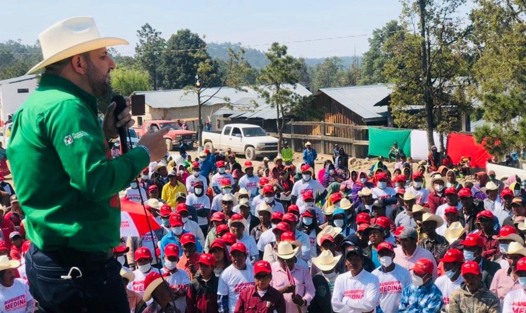 Balleza es territorio PRI; este 06 de Junio ganaremos la elección; Augusto Medina