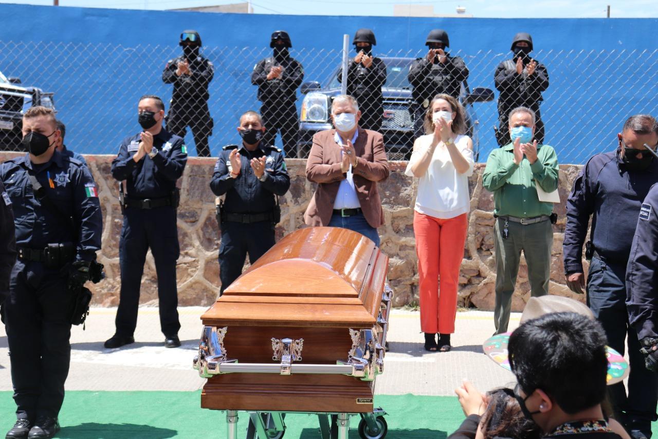 Cuauhtémoc > Despiden con honores al oficial José Guadalupe Zúñiga Banda