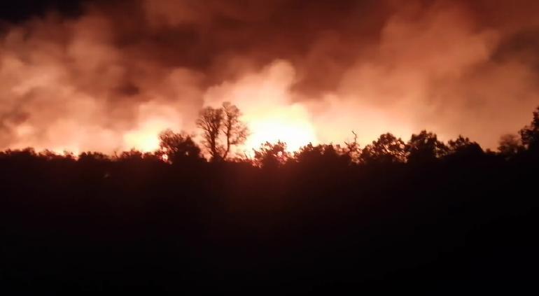 Incontrolable incendio en Casas Grandes anoche: brigadistas