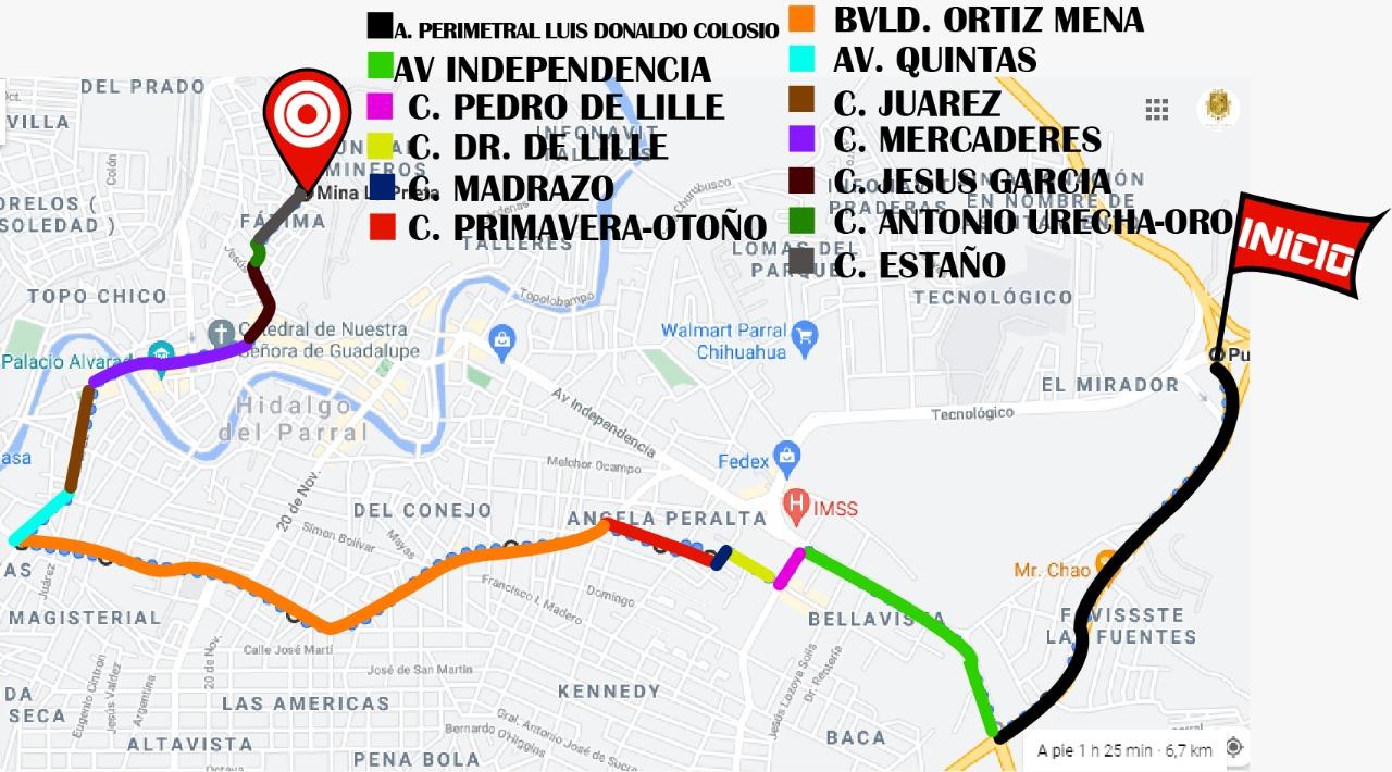 Recorrido de entrada de la Cabalgata Villista  a Parral el próximo lunes 19 de julio