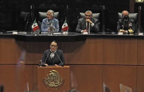 """""""No vine a ganar una guerra, sino la paz"""": Rosa Icela Rodríguez"""