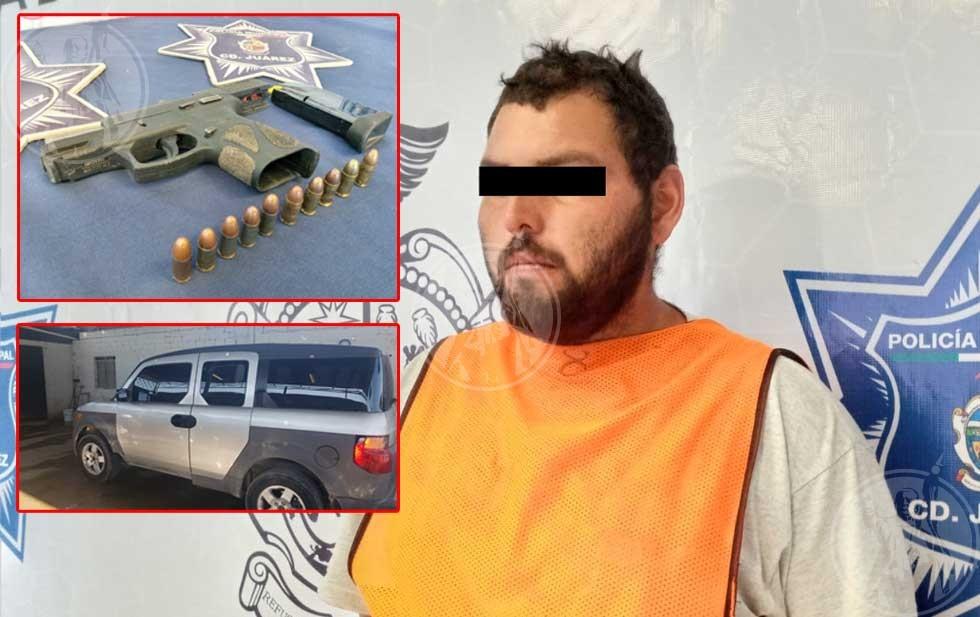 Amenaza hombre a policías con ser sicario y es detenido