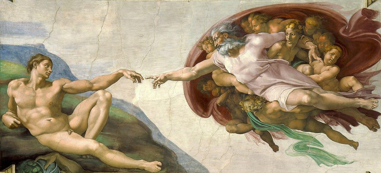 Miguel Ángel - La creación de Adán (1511)