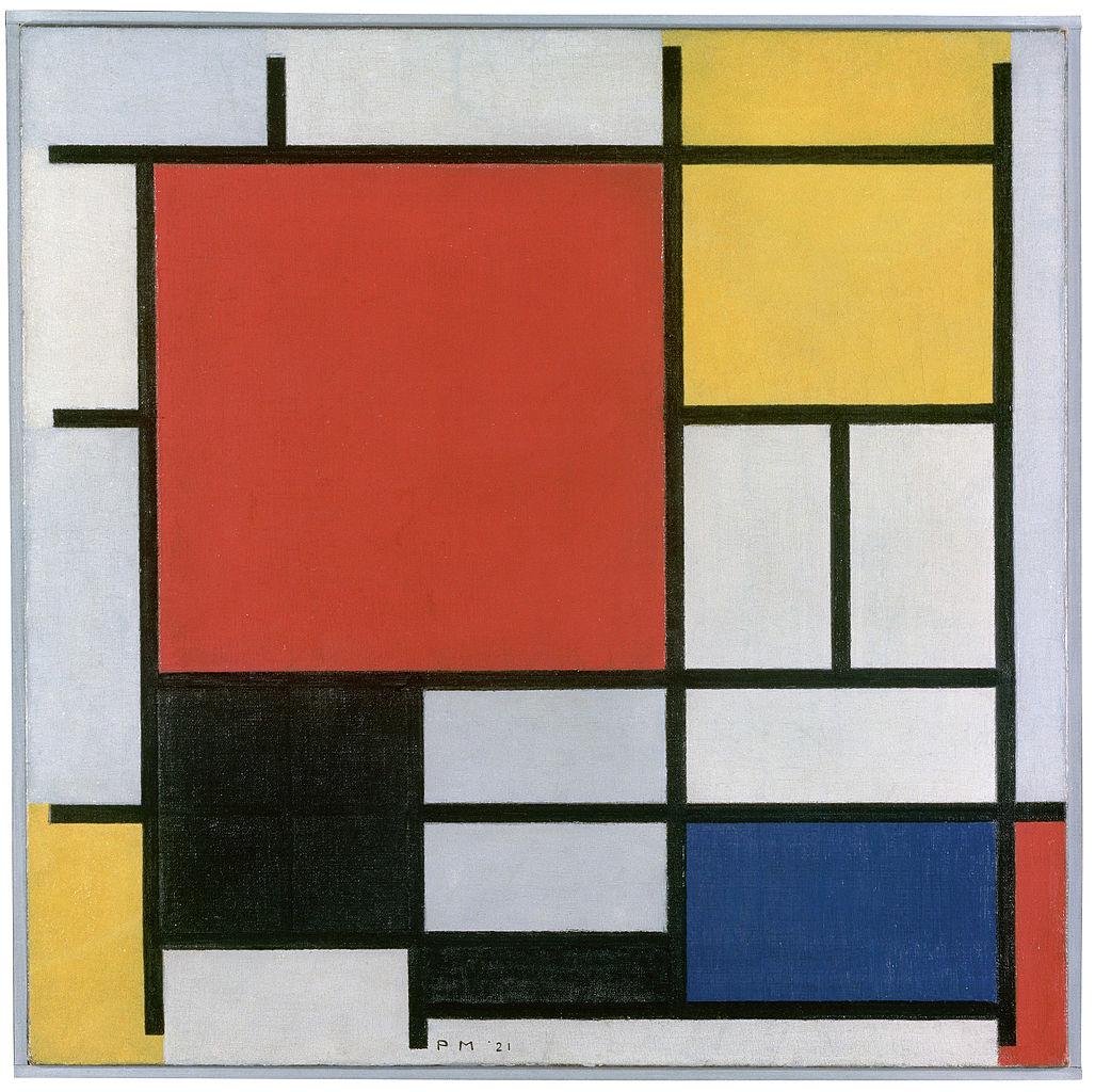 Piet Mondriaan - Composición en rojo, amarillo, azul y negro (1921)