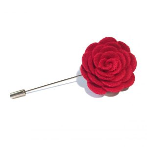 Lapel flower kompakt rød
