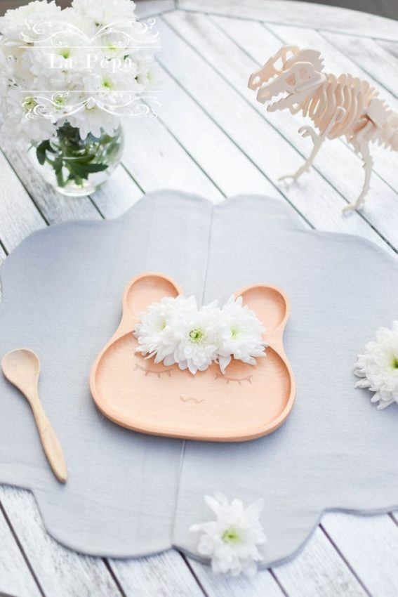 La Pepa Boutique Eco Kids | Wooden Bunny Plate