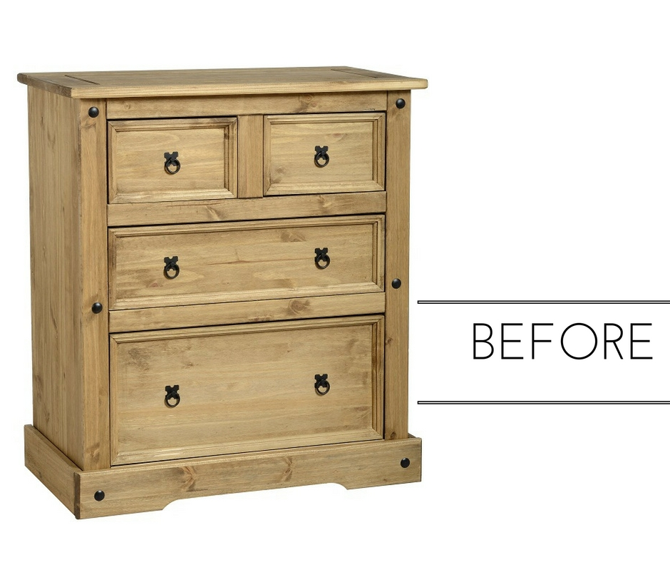 upcycle furniture - before and after