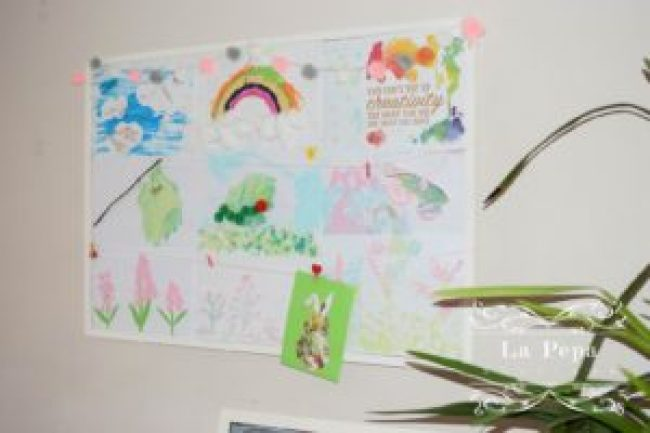 Spring theme crafts board