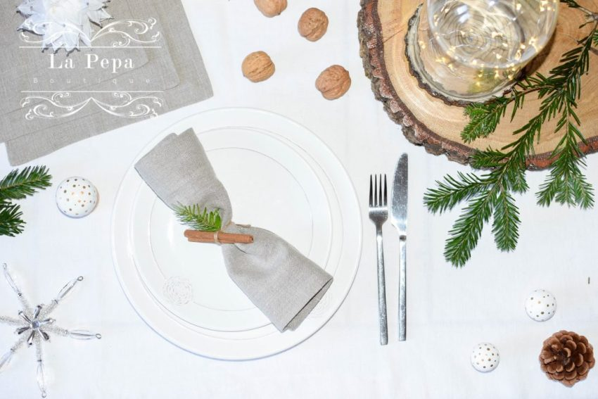 Eco Christmas | A Luxurious yet Natural Look with Table Linen 12