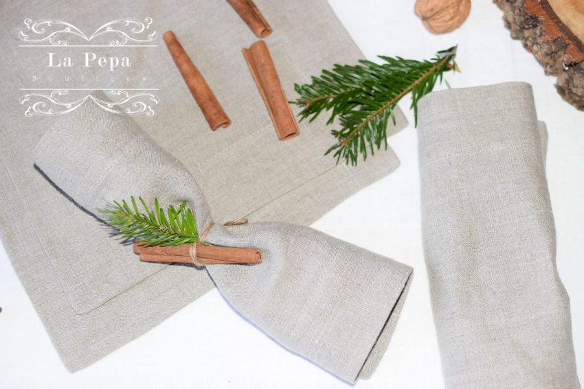 Eco Christmas | A Luxurious yet Natural Look with Table Linen 11