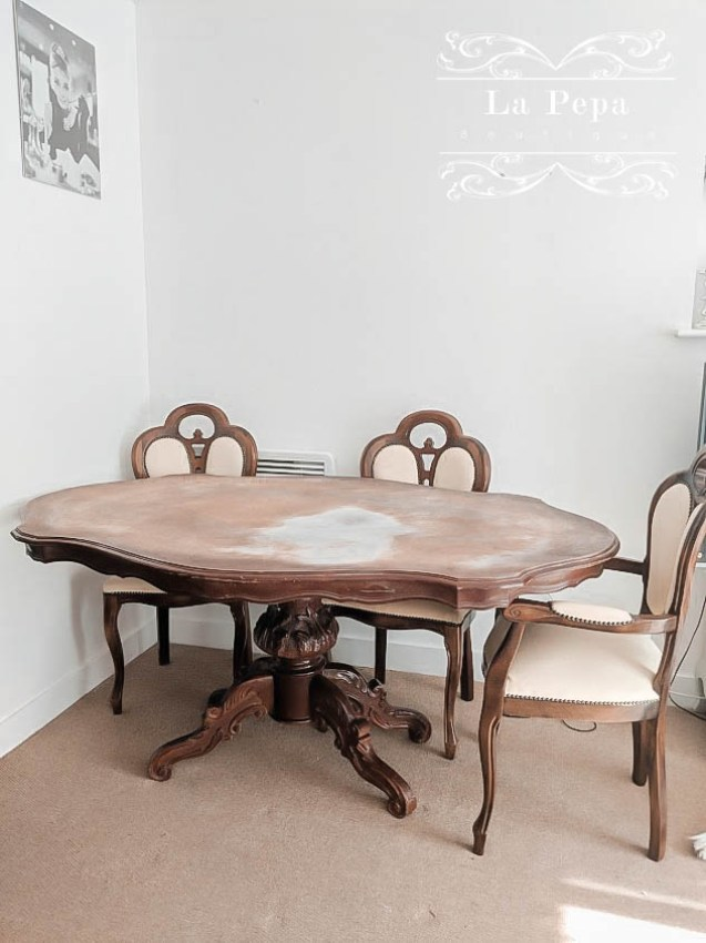 Upcycle   From Shabby to Chic - Dining Table & Chairs