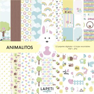 coleccion scrap animales