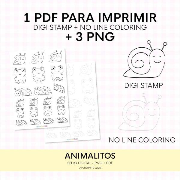 digi stamp animal
