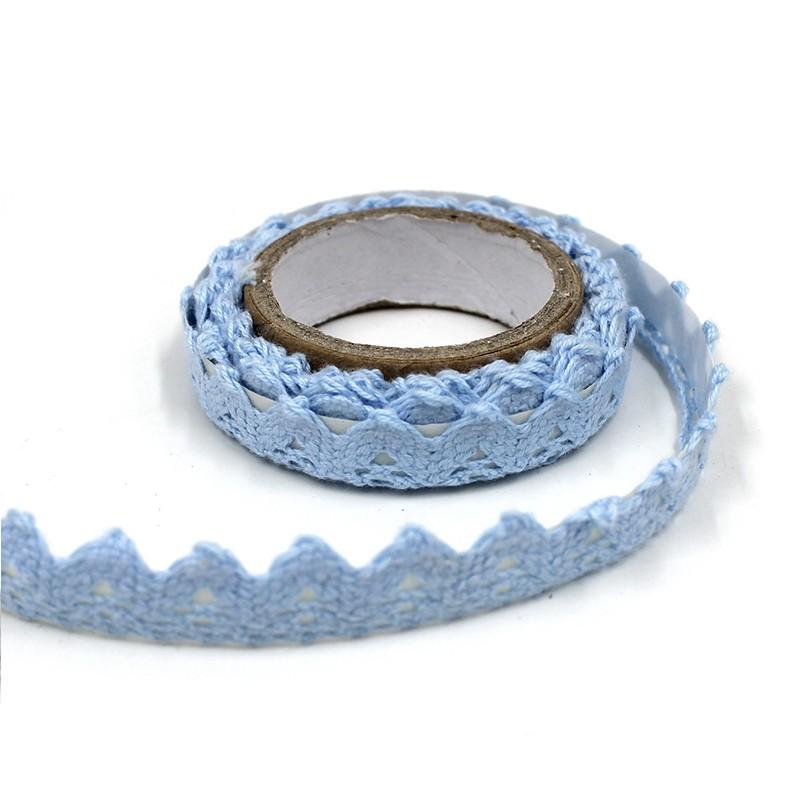 ruban dentelle adhesif bleu