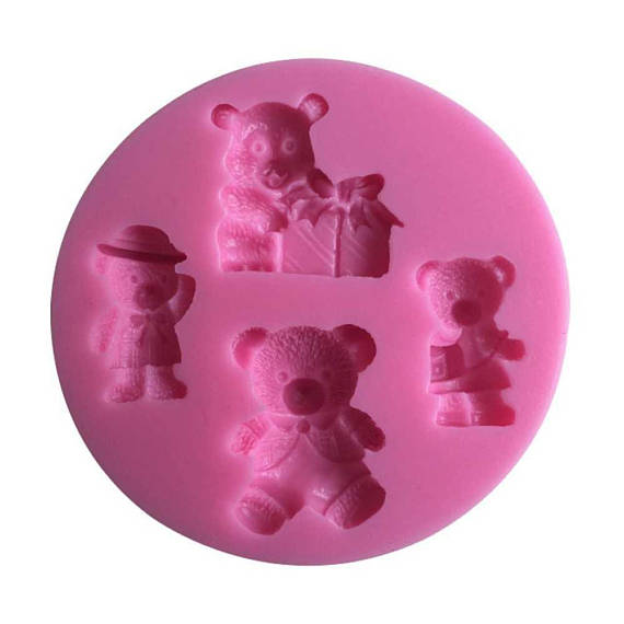 Moule silicone 4 oursons