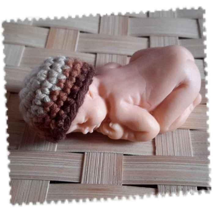 mini bonnet bébé couché degrade marron