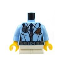 Lego Acessories Minifig - Bright Light Blue Torso Police ...