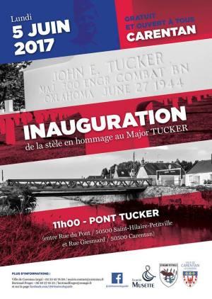 Tribute to major Tucker carentan 2017