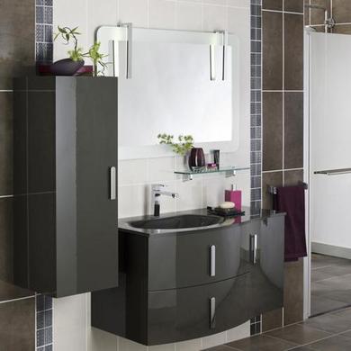 amazing gallery of meubles salle de bains meubles de salle de bains une colonne avec tiroirs un. Black Bedroom Furniture Sets. Home Design Ideas