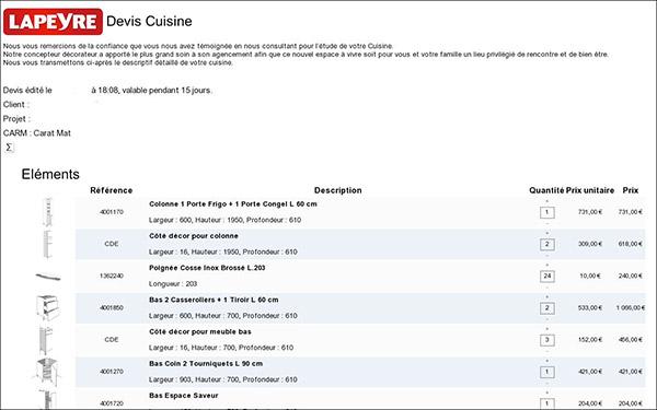 cuisine quipee devis regarding exemple devis cuisine equipee ... - Exemple Devis Cuisine Equipee