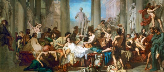 The Decadence of the Romans, by Thomas Couture, 1847. Musée d'Orsay, Paris.