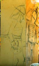 ... au dessin sur le mégalithe.