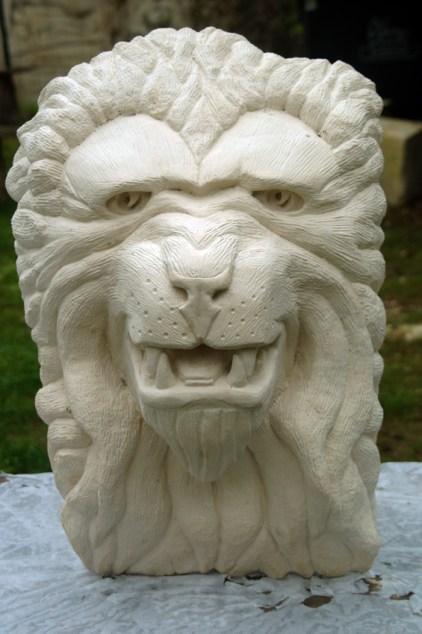 13-09-2015 Le Lion sculpté par Aalain Tenenbaum : lot pour les adhérents du Club Lapidiales