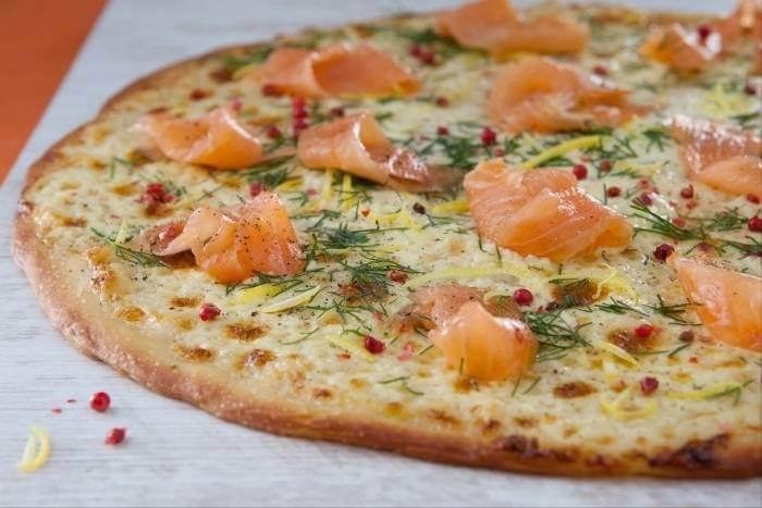 pizza nordique saumon