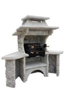 barbecue en pierre reconstituee avec