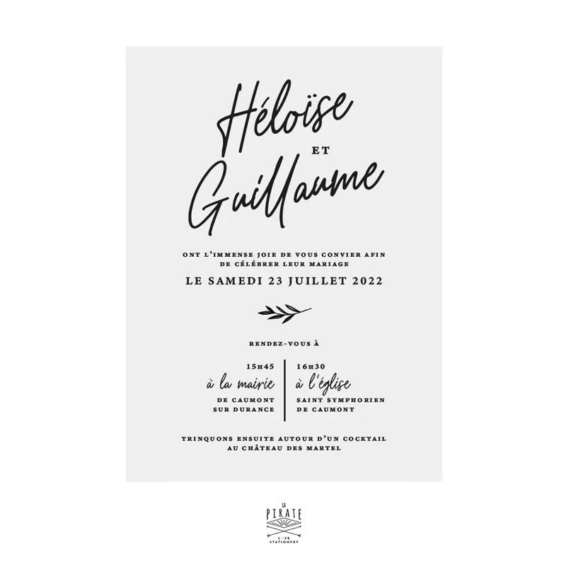 faire part mariage calque blanc elegant invitation mariage rosie
