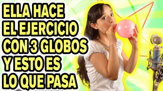 Ejercicios con globos para respiración