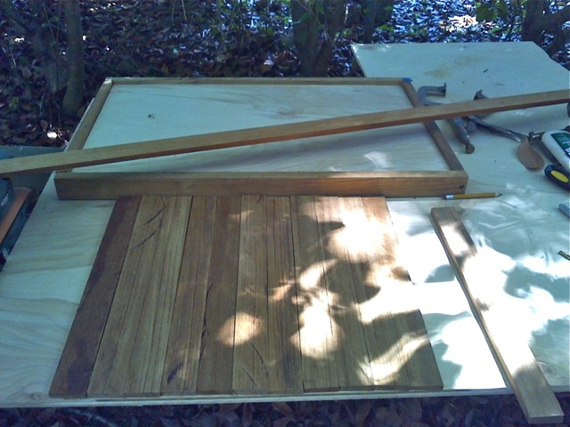 The hatch ready for teak strips