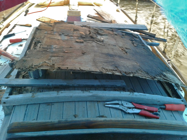 Teak Seahood rotted away