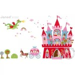 Stickers muraux princesse chateau magnetique Janod