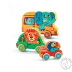 Puzzle bois animaux voitures - Djeco