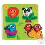 Puzzle encastrable animaux jungle - Djeco
