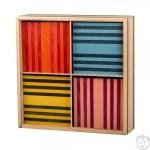 Kapla de couleurs Construction en bois