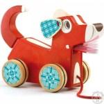 Chien à promener pour enfant jouet en bois