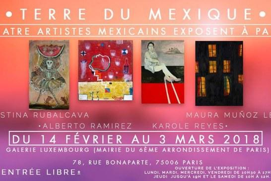 Paris – «Terre du Mexique» Exposition de 4 peintres mexicains du 14 février au 3 mars 2018
