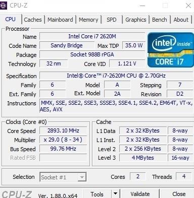 Core i7-2620M