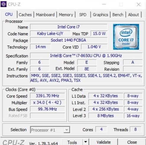 Core i7-8650U